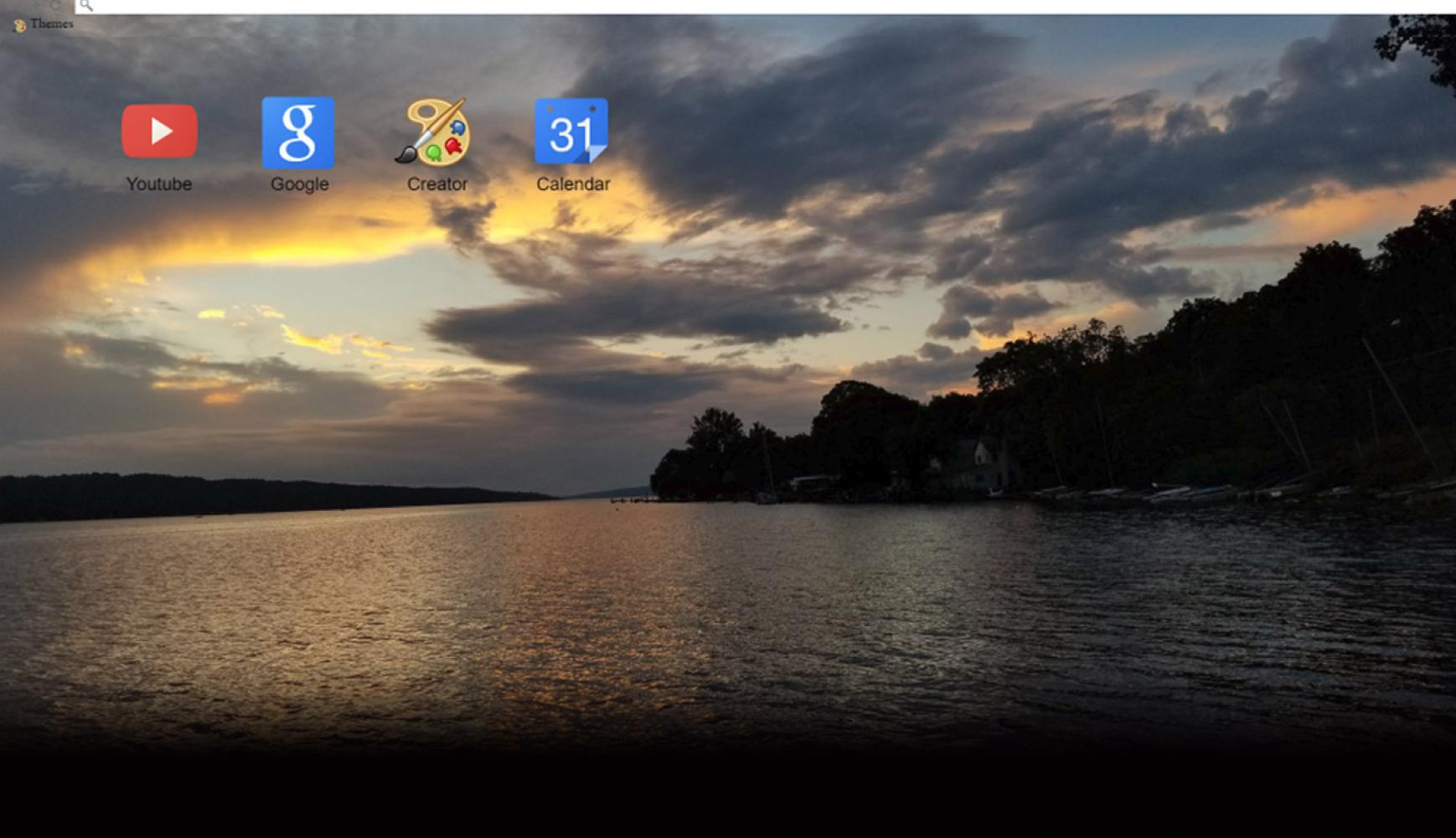 East Shore Park @ Twilight Free Google Chrome Theme
